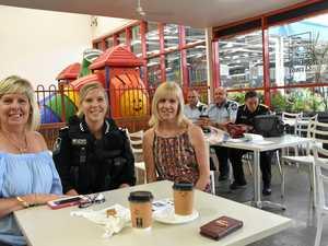 Gladstone police tackle crime prevention over coffee