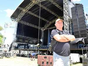 BY THE C: Massive stage takes shape