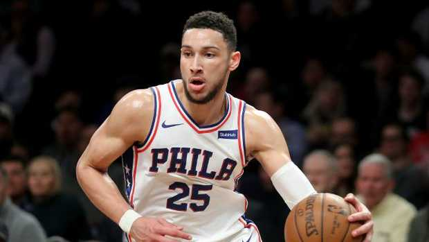 NEW YORK NY- JANUARY 31 Ben Simmons #25 of the Philadelphia 76ers looks down the court in the third quarter against the Brooklyn Nets during their game at Barclays Center