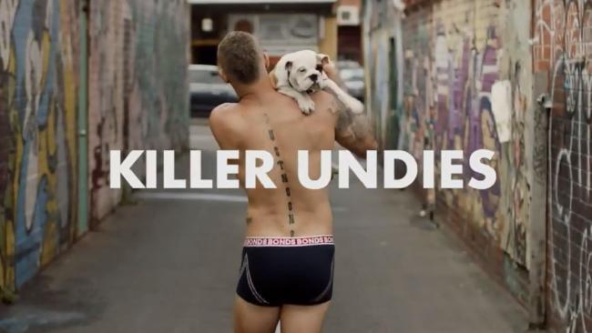 Dustin Martin's ad for Bonds. Source: Bonds