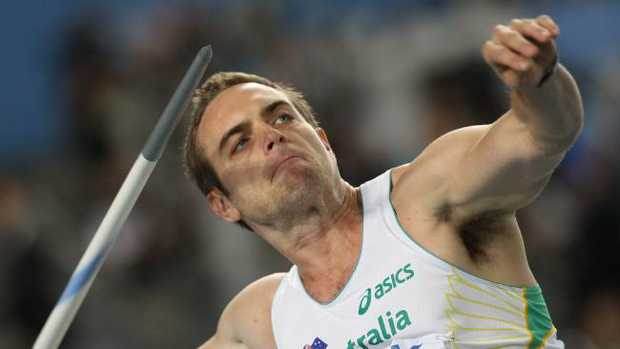 Australia's Jarrod Bannister competing in the men's javelin throw final at the International Association of Athletics Federations (IAAF) World Championships in 2013