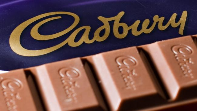A bar of Cadbury's Dairy Milk chocolate. Picture: AFP