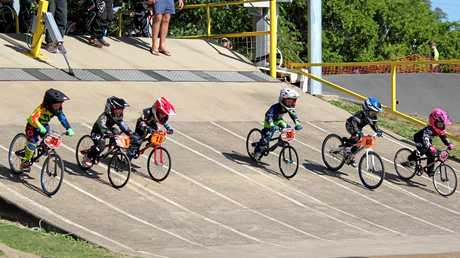 The Rockhampton BMX Club has riders as riders as young as two and there is no upper age limit.