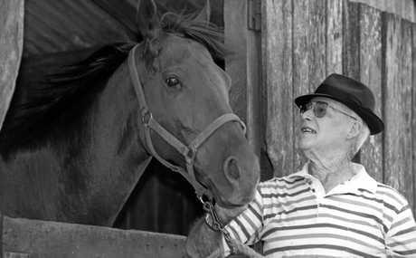 Toowoomba's legendary thoroughbred horse trainer Jim Atkins.