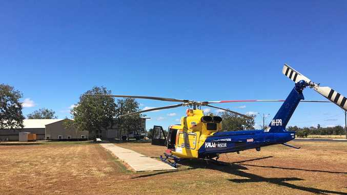 The RACQ Capricorn Helicopter Rescue Service airlfit a 69-year-old man after a motorbike accident in Blackwater.