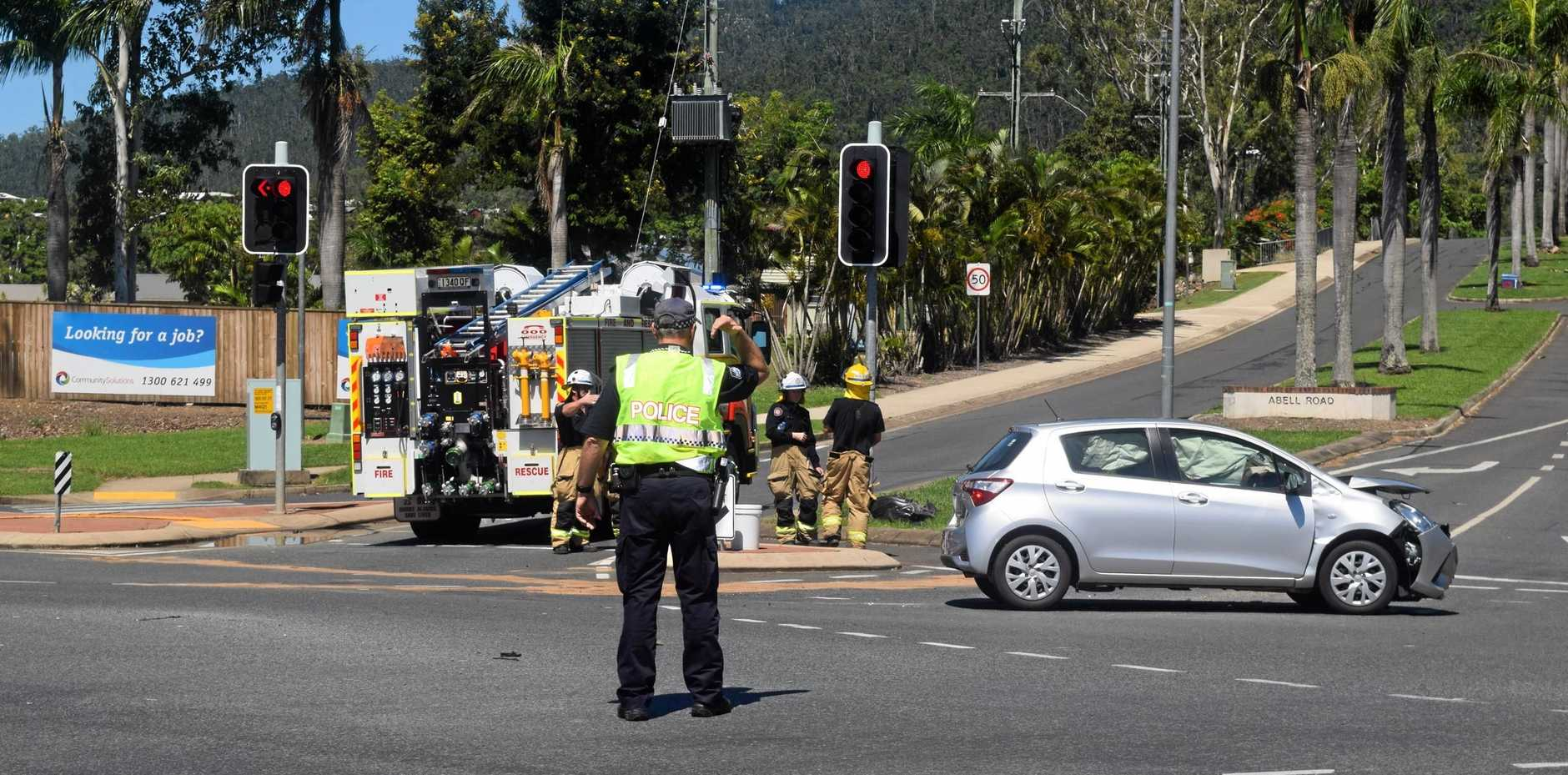 Collision on the corner of Shute Harbour road and Abell road, on Saturday February 10 2018.