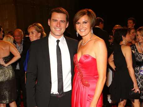 Karl Stefanovic and Cassandra Thorburn at the 2011 Logies. Picture: Scott Barbour/Getty Images