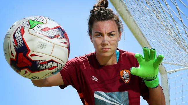 Mackenzie Arnold will line up in goals for the Matildas. (Liam Kidston.)