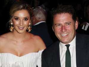 Karl Stefanovic's ex takes jab at engagement