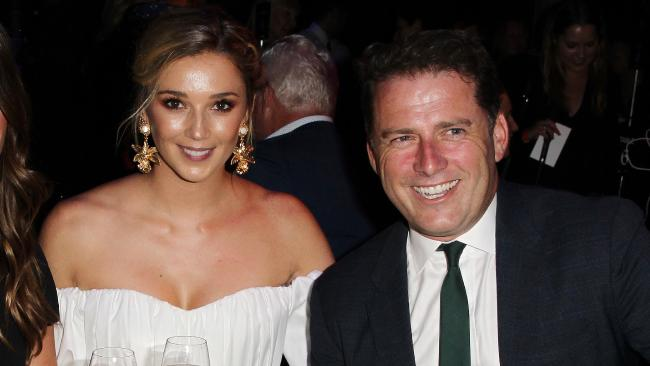 Jasmine Yarbrough and Karl Stefanovic at the David Jones Autumn-Winter 2018 Collections Launch in Sydney. Picture: Christian Gilles
