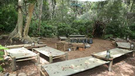 Where time stand still: The I'm A Celebrity jungle camp. Picture: Channel 10