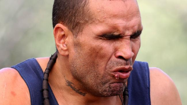 Anthony Mundine bombed out of the I'm A Celeb jungle early. Picture: Nigel Wright/Network Ten