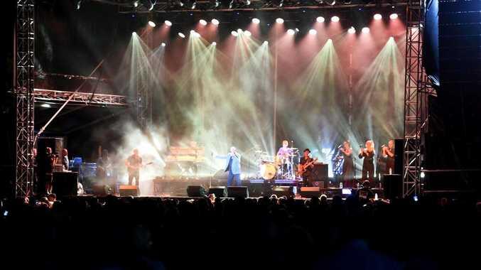 By the Sea concert, starring John Farnham, Jon Stevens, The Black Sorrows and Ross Wilson. Hervey Bay Seafront Oval -