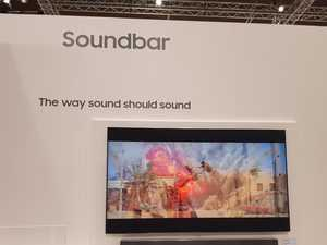 Samsung soundbar in action