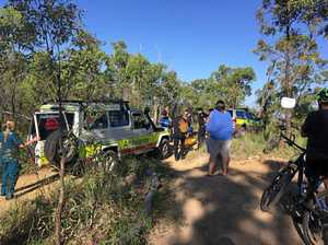 Injured boy stretchered from Rocky mountain bike track
