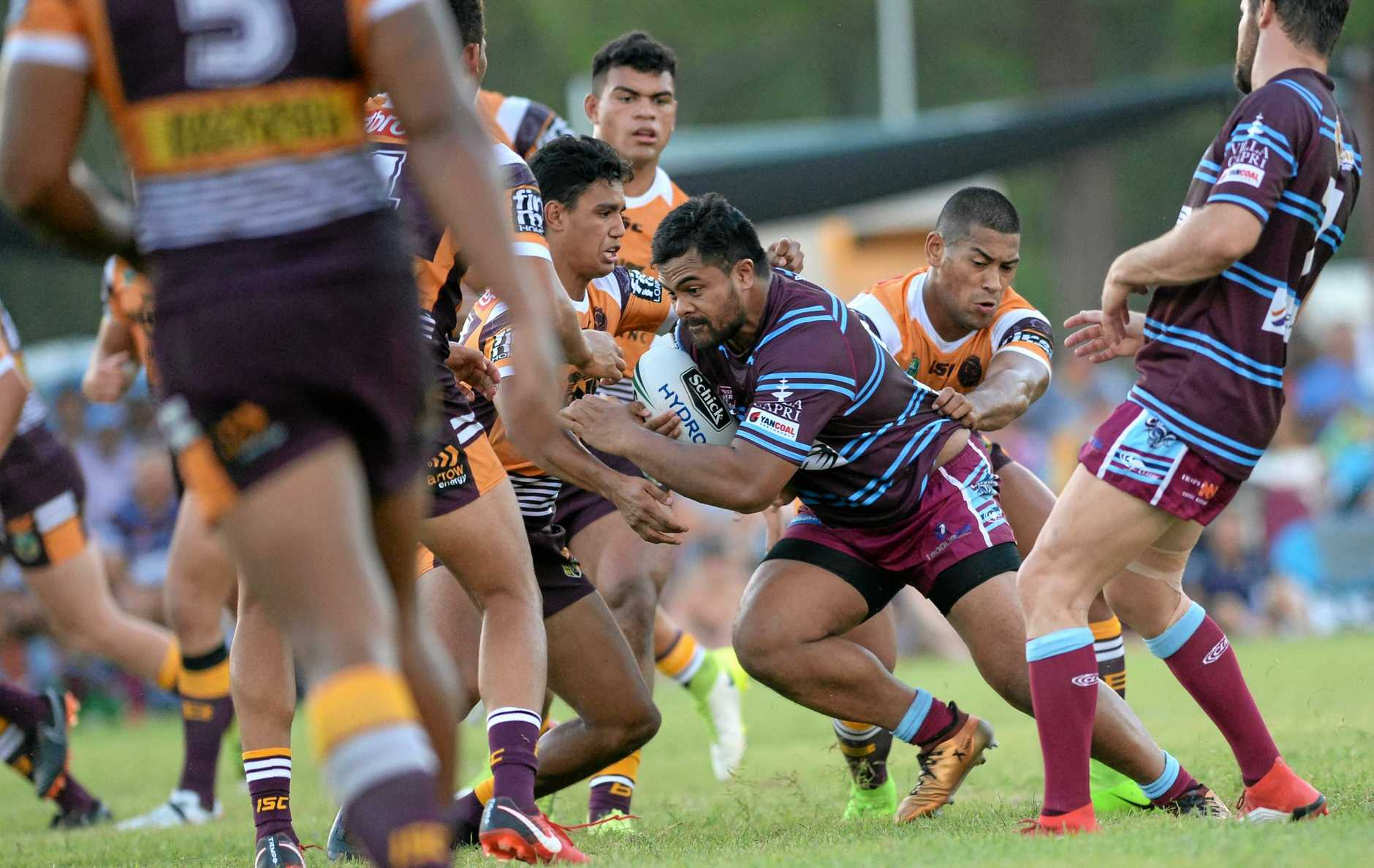 The CQ Capras went down 16-6 to the Brisbane Broncos in the trial game at Theodore on Saturday night.