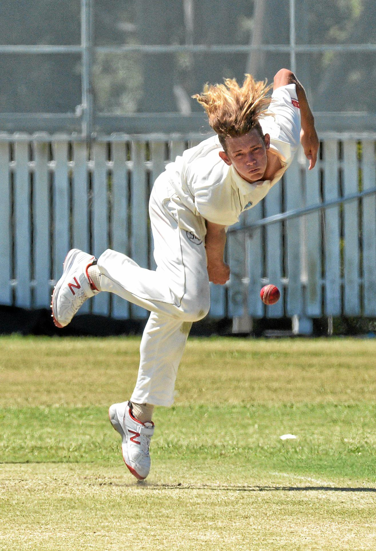 DOUBLE: Harry Wood took two wickets against Wests.