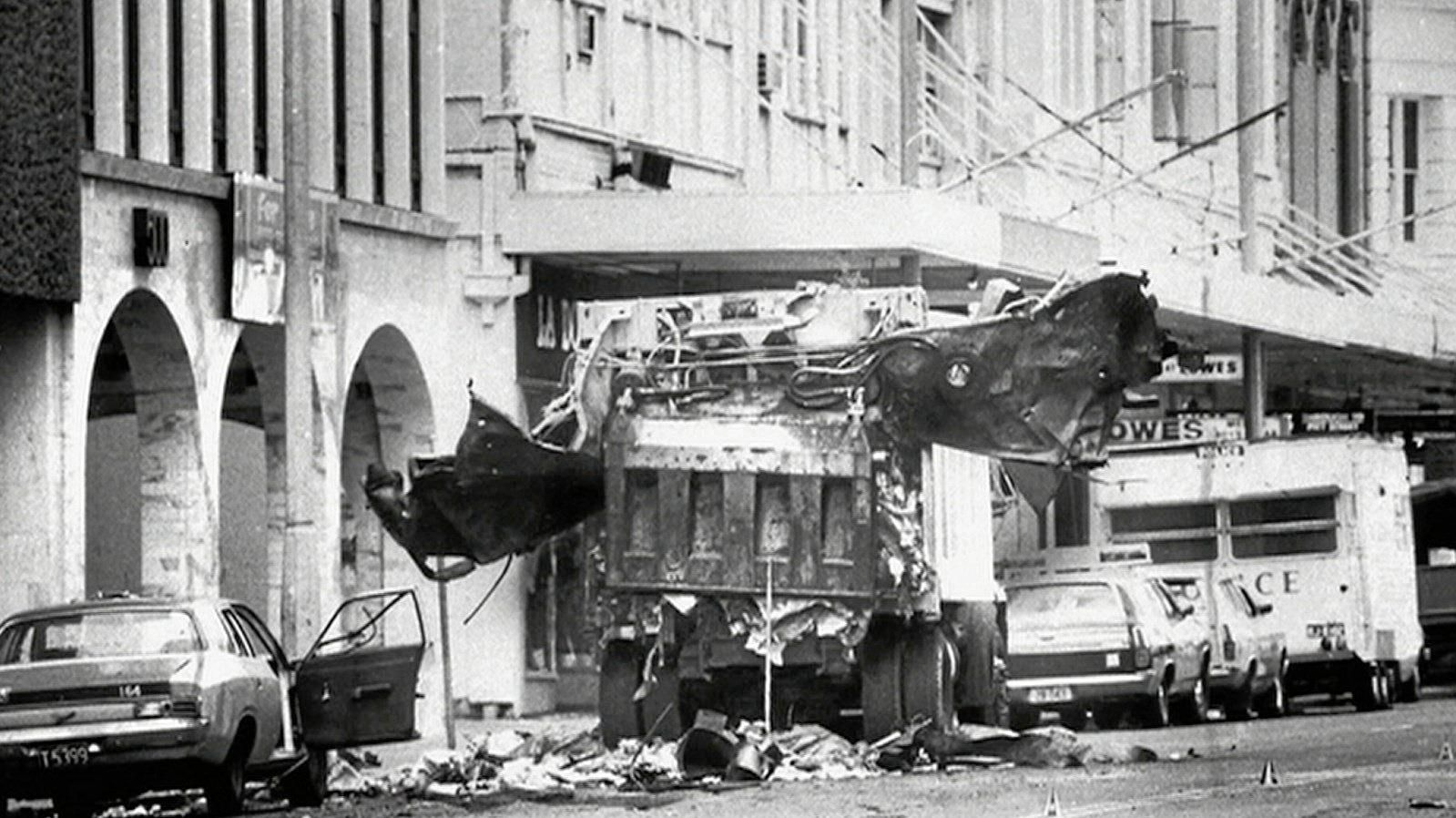 The Sydney Hilton bombing occurred on 13 February 1978, when a bomb exploded outside the Hilton Hotel in Sydney. The bomb was planted in a rubbish bin and exploded when the bin was emptied into a garbage truck outside the hotel at 1.40am. It killed two garbage collectors, Alec Carter and William Favell.