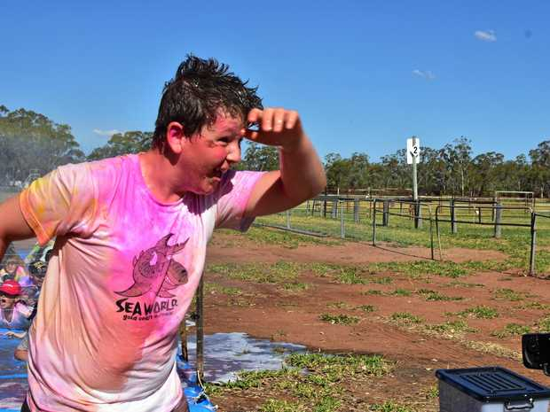 COLOUR FUN: The Jandowae Colour Run was the biggest on record, with more than 200 entrants enjoying the fun.