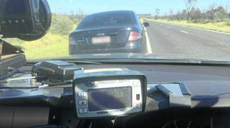 Police released a photograph of Ford Falcon going 178km/h near Middlemount.