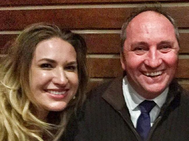 Deputy Prime Minister Barnaby Joyce with Vikki Campion.