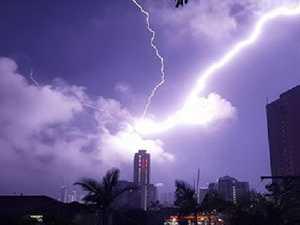 Q1 hit by lightning