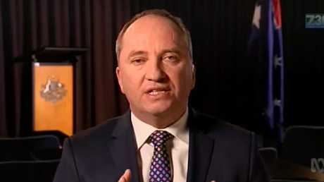Barnaby Joyce appeared on 7.30 on the ABC, earlier this week.