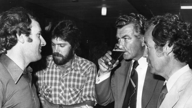 Mr Hawke was a legendary drinker in his union days. Source: News Corp Australia.