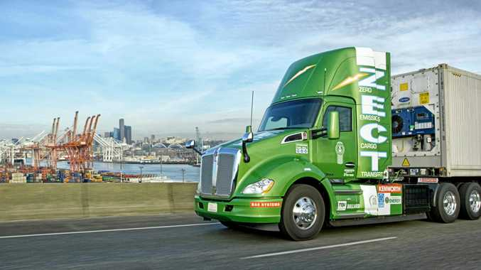 FUELLING THE FUTURE: The Kenworth T680 Zero Emissions Cargo Transport (ZECT) hydrogen-electric.