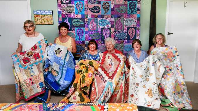 BRIGHT HISTORY: Murwillumbah Quilters Inc members Jane Yeoman, Dianne Johnston, Anne Hartigan, Jackie Balk, Lois O'Connor and Gill Andrews are looking forward to hosting the regional event this year as they mark 30 years.