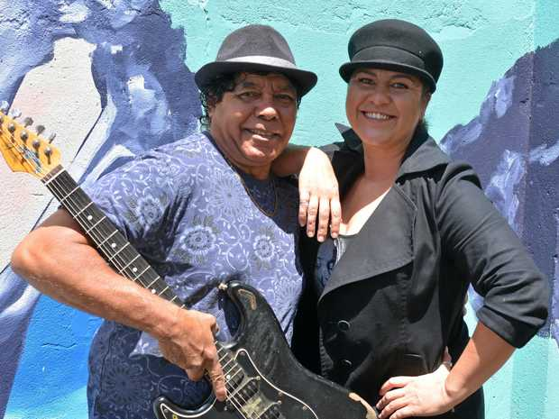 LOCAL ARTISTRY: Two out of three ain't bad, Greg Drahm and Tru Betts rehearse regularly with Tyrone Drahm ahead of their Queen's Baton Celebration performance next month.