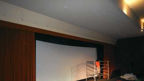 The new Regent Cinema screen.