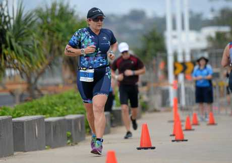 Christine Webb competes at last year's Yeppoon Triathlon Festival.