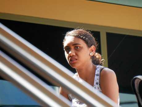 Sarah Rose Ashleigh Pi Dalton-Cummings, 18, of Urangan, outside Hervey Bay Magistrates Court.
