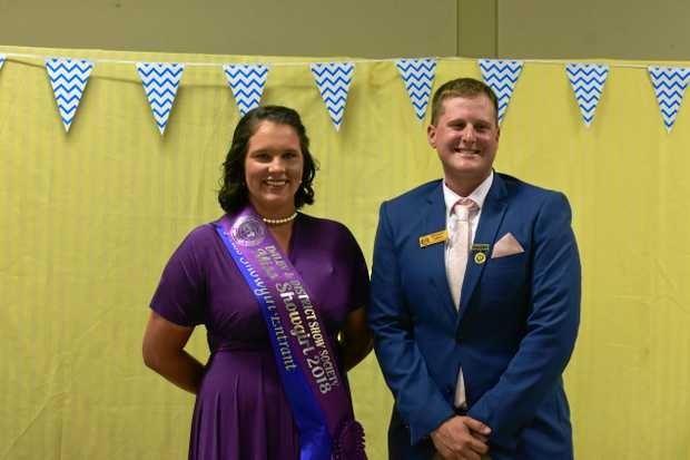 SHOWBALL: Kymberley Ryan was named 2018 Miss Dalby Showgirl, and Brad Smith took the role of Rural Ambassador.