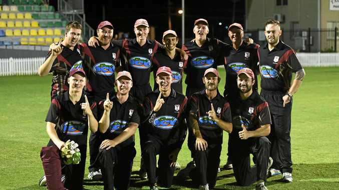 The victorious Norths side after winning the T20 final against The Waves at Salter Oval on Friday night.