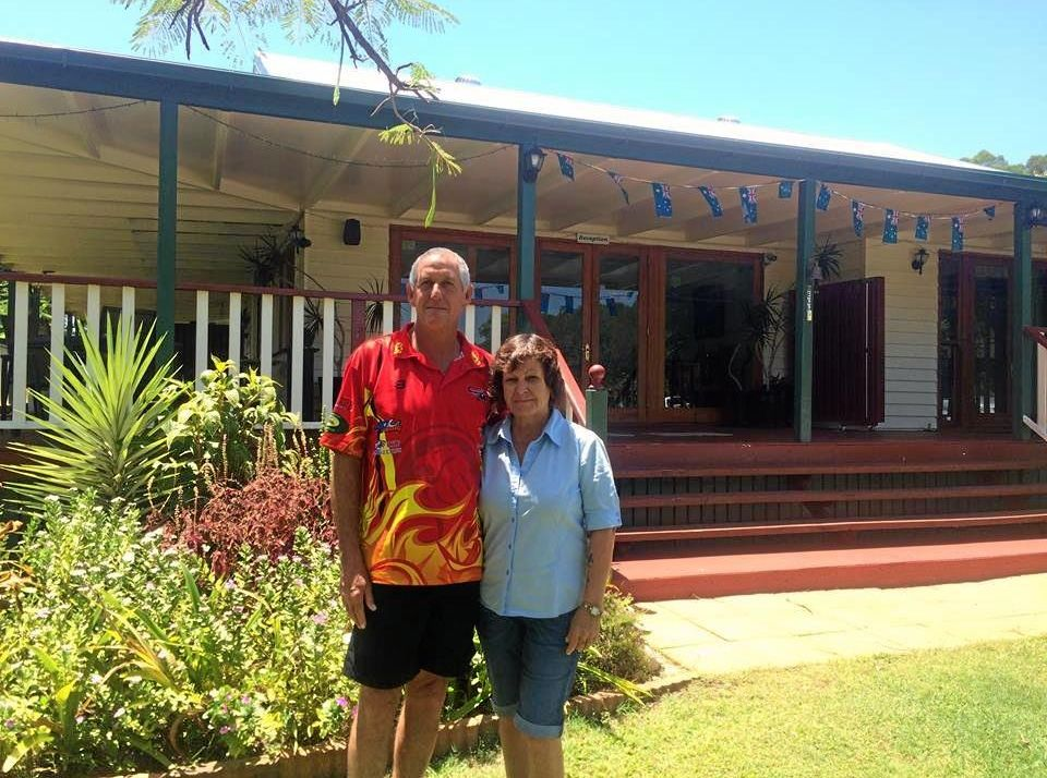 Ken Groth & Kathy Grant have opened the Amamoor Homestead to community members in need during the region's extreme heatwave.