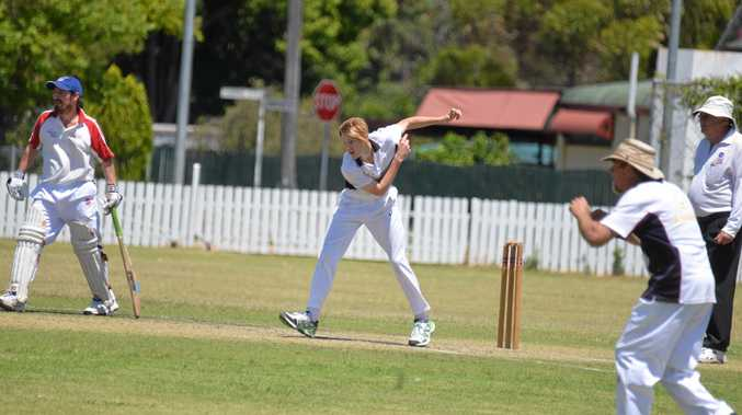 IN FORM: Cahal Davis bowls for Sovereign Animals at Slade Park.