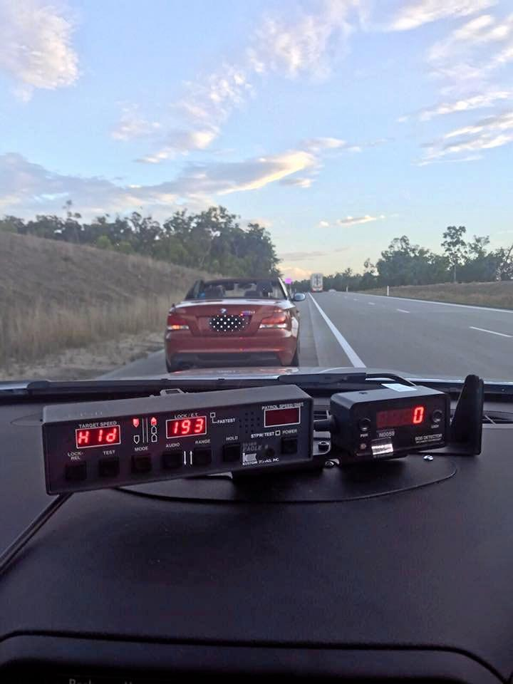 The BMW was pulled over at Glenugie