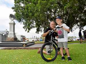 New bike for boy who was hit by car