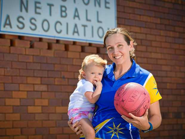 NEW START: Karen Petherick has been appointed as the Gladstone Netball Association president. She has replaced Sam Dippel. She is pictured with her 14-month-old daughter Hayley Massa.