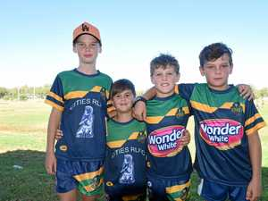 Children kick it at league sign-on days
