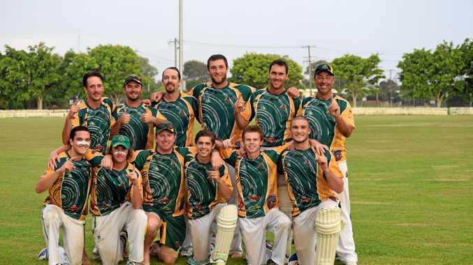 ALL GRINS: Cudgen celebrates after winning the Far North Coast LJ Hooker League Twenty20 final at Fripp Oval, Ballina Sunday night.