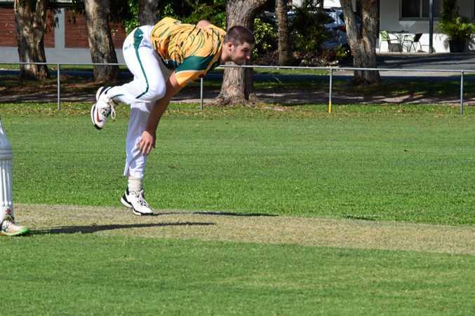 Cudgen opening bowler Connor Ziebell in FNC LJ Hooker League cricket.