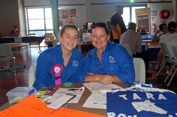 STRONG COMMUNITY: Tara Pony Club's Karsha Dewis and Elizabeth Turner at the Tara Community Expo.