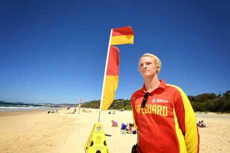 Rainbow Beach Lifeguard Thomas Cervi.