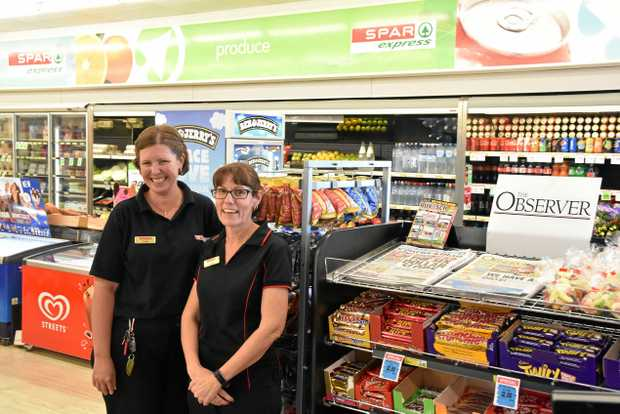 CHANGE: New Auckland's SPAR Express is under the new management of Katrina Combridge (right), who is with staff member Tanya Marxsen.