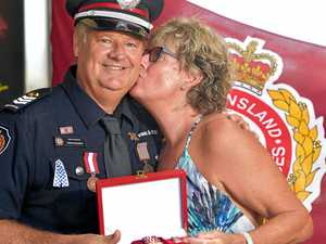 Local hero honoured after daring fire rescue