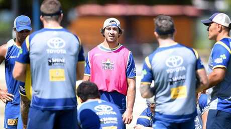 Johnathan Thurston's return to the training paddock has given the Cowboys' pre-season a boost. Photo: Alix Sweeney