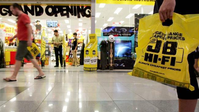 shopper pass outside retailer JB HI FI